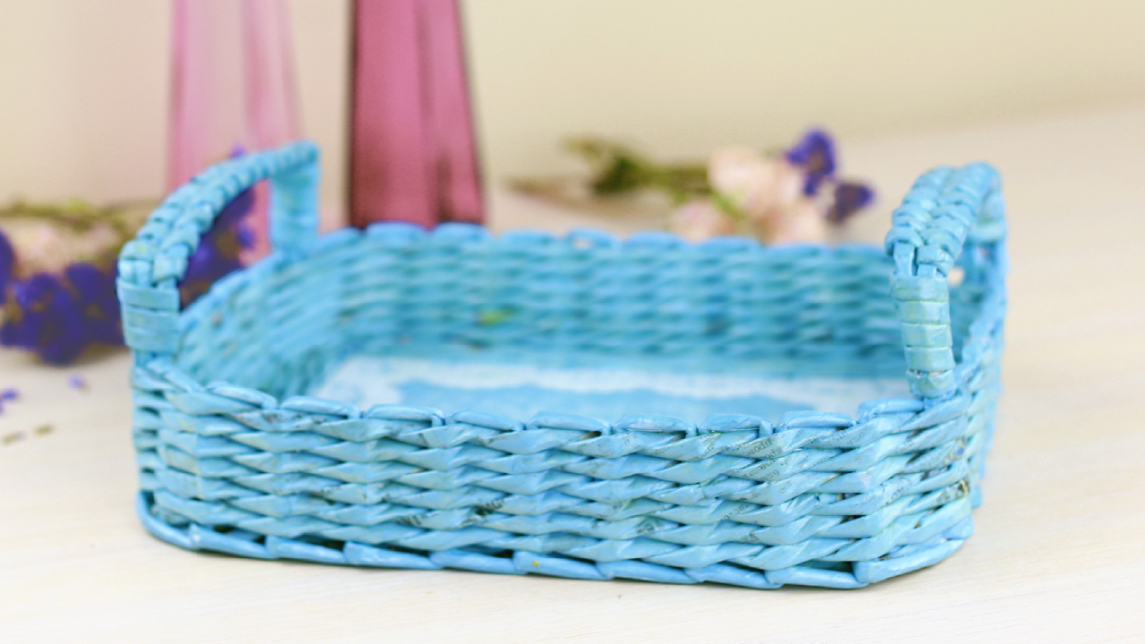 Diy Decorative Woven Paper Tray