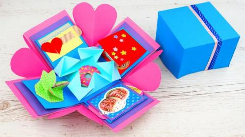 DIY Exploding Box for Valentines Day