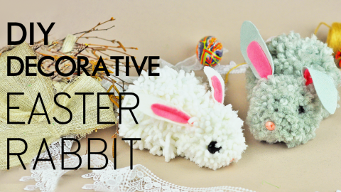 DIY Decorative Easter Rabbit
