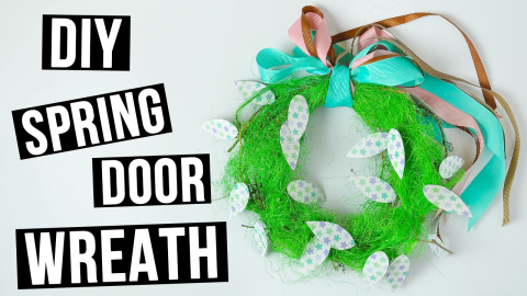 DIY Spring Door Wreath