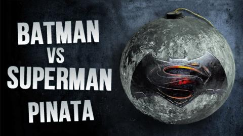 DIY Batman Vs Superman Paper Mache Pinata