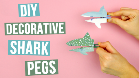 DIY Decorative Shark Pegs
