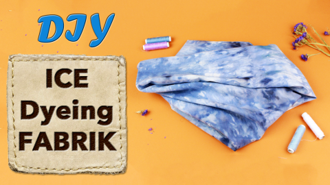 DIY Ice Dyeing Fabric