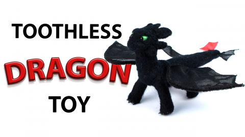DIY Toothless Dragon Toy from How to Train Your Dragon