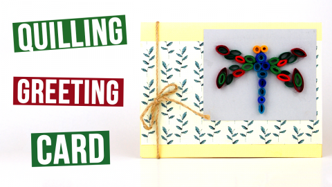 DIY Quilling Greeting Card