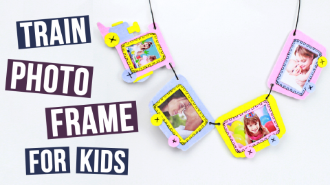 DIY Train Photo Frame For Kids
