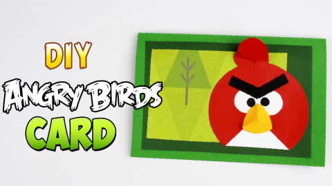 DIY Angry Birds Card