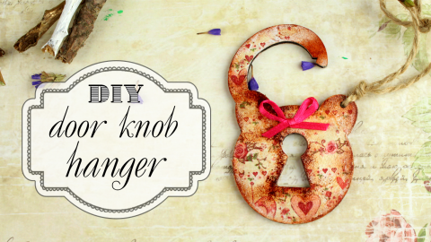 DIY Decoupage Door Knob Hanger