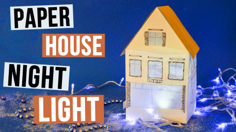 DIY Paper House Night Light