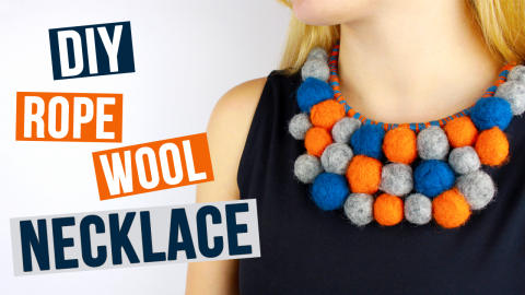 DIY Rope Wool Necklace