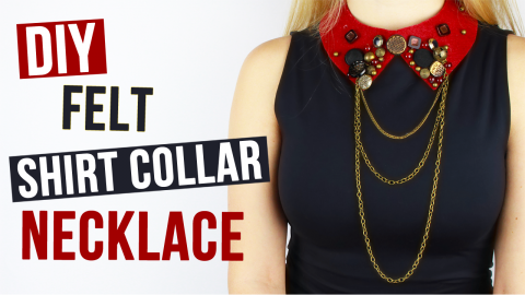 DIY Felt Shirt Collar Necklace