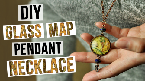 DIY Glass Map Pendant Necklace