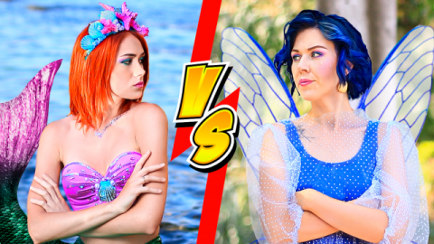 Makeup Challenge! 10 DIY Mermaid Makeup vs Fairy Makeup