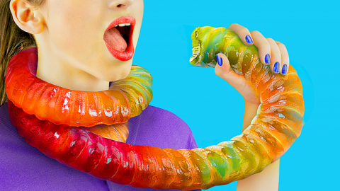 8 DIY Giant Candy vs Miniature Candy / Giant Gummy Worm