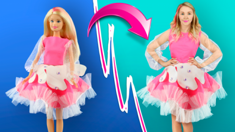 Last Minute DIY Halloween Costume Ideas! Barbie Outfit. Giant Squishy Ice Cream Bar Costume