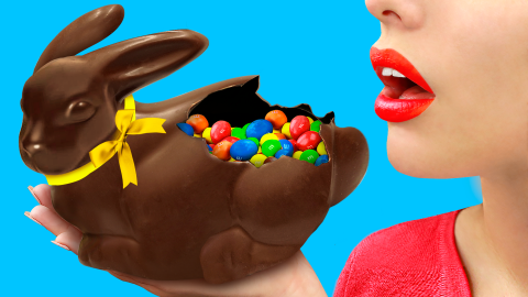 How To Make a Giant Chocolate Easter Bunny / 8 DIY Easter Treats