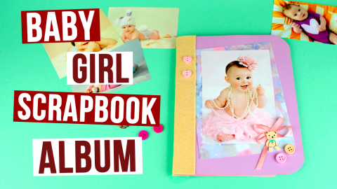 DIY Baby Girl Scrapbook Album