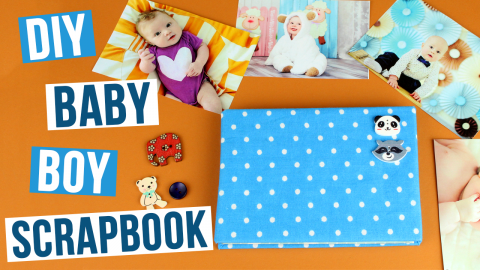 DIY Baby Boy Scrapbook