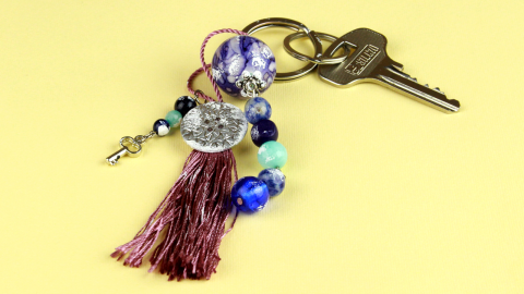 DIY Beaded Tassel Keychain