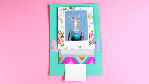 DIY Waterfall Greeting Card