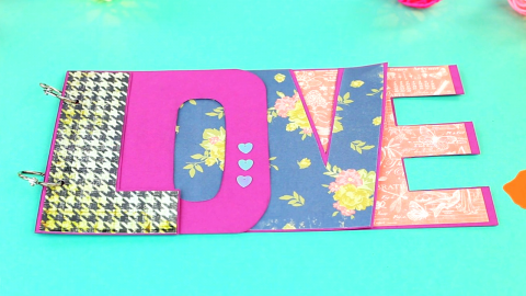 DIY Love Scrapbook Album