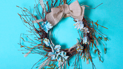 DIY Twig Wreath Tutorial