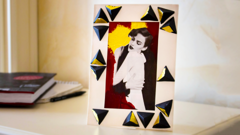 DIY Framed Collage Installation