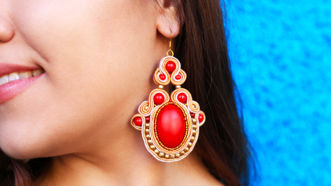 DIY Soutache Ethnic Earrings