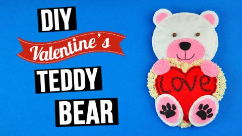 DIY Valentine's Teddy Bear with a Heart