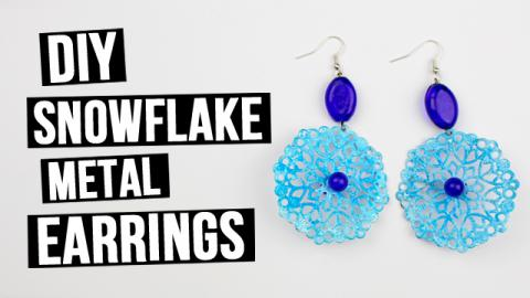 DIY Statement Snowflake Metal Earrings