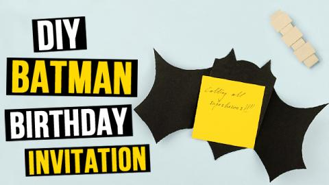 DIY Batman Birthday Invitation