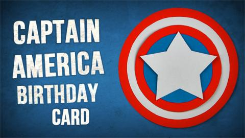 DIY 3D Captain America Birthday Card