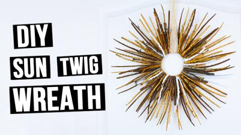 DIY Twig Sun Wreath Craft