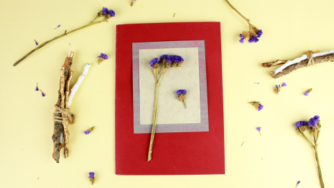 Hand Made Flower Scrap Card