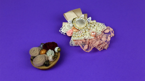 DIY Vintage Brooches