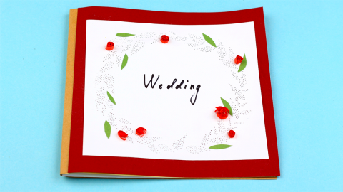 DIY Wedding Scrapbook Photo Album