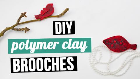 DIY Polymer Clay Brooches