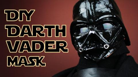 DIY Darth Vader Paper Mache Mask