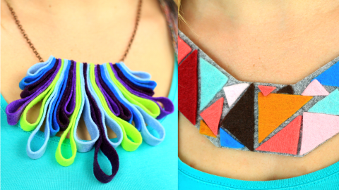 DIY Felt Jewelry Making Ideas
