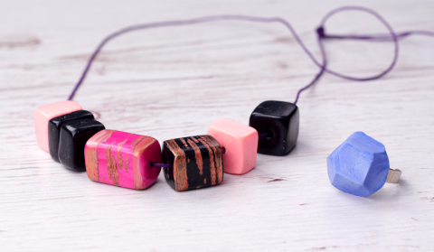 DIY Geometric Polymer Clay Jewelry