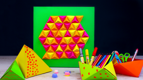 DIY Paper Geometric Room Decor