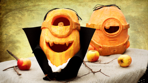 DIY Minion Pumpkin