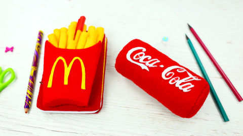 DIY French Fry Notebook And Coca Cola Shaped Stress Ball
