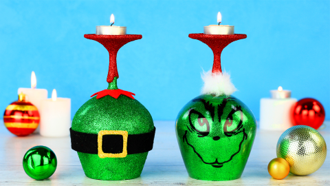 DIY Grinch Christmas Decorations