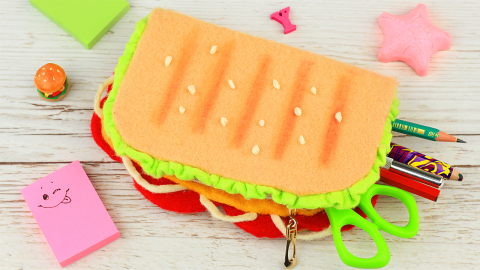 DIY Sandwich Pencil Case